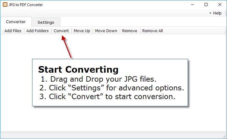 Free Download - JPG to PDF Converter